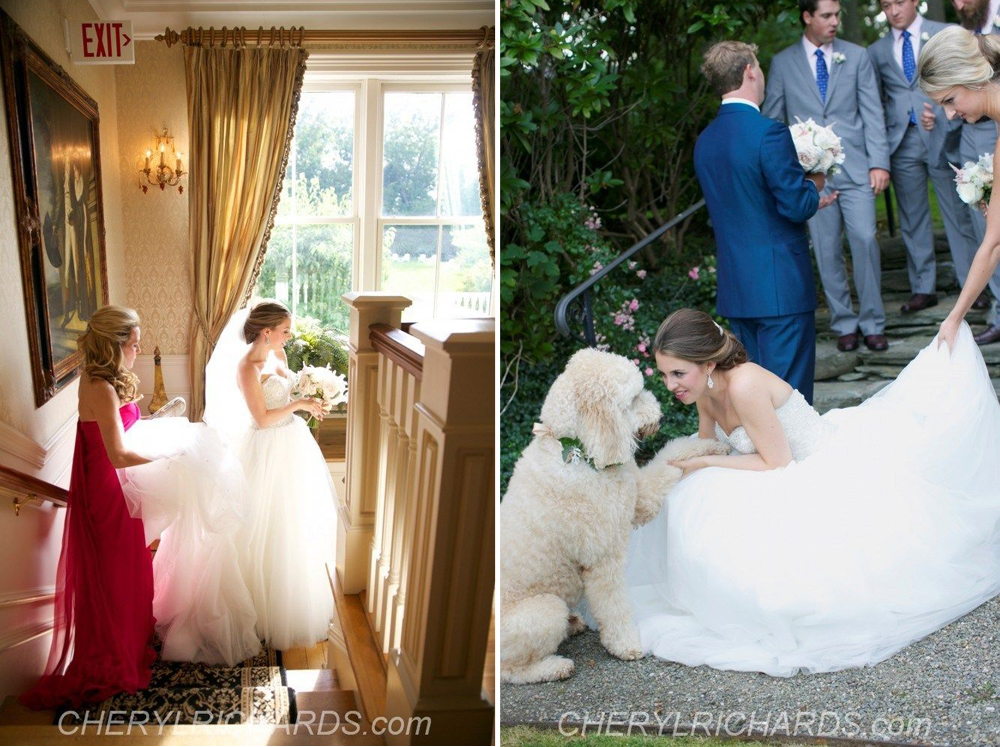 Waterfront Summer Wedding - Chanler at Cliffwalk, Newport RI