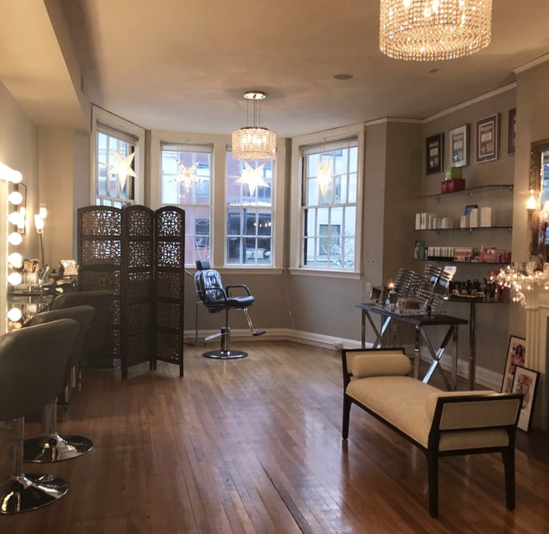 Interior Image of Katrina Hess Makeup Studio on Newbury Street in Boston MA
