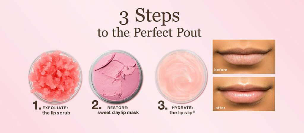 Photograph of process to get the perfect pout