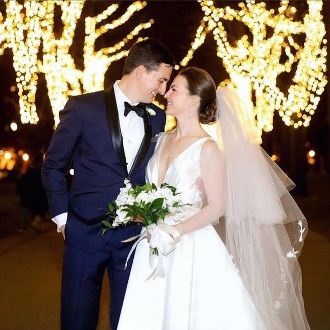 Photograph of NYE wedding couple in Boston, MA
